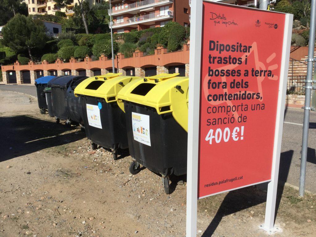 64 denúncies en matèria de residus a Palafrugell