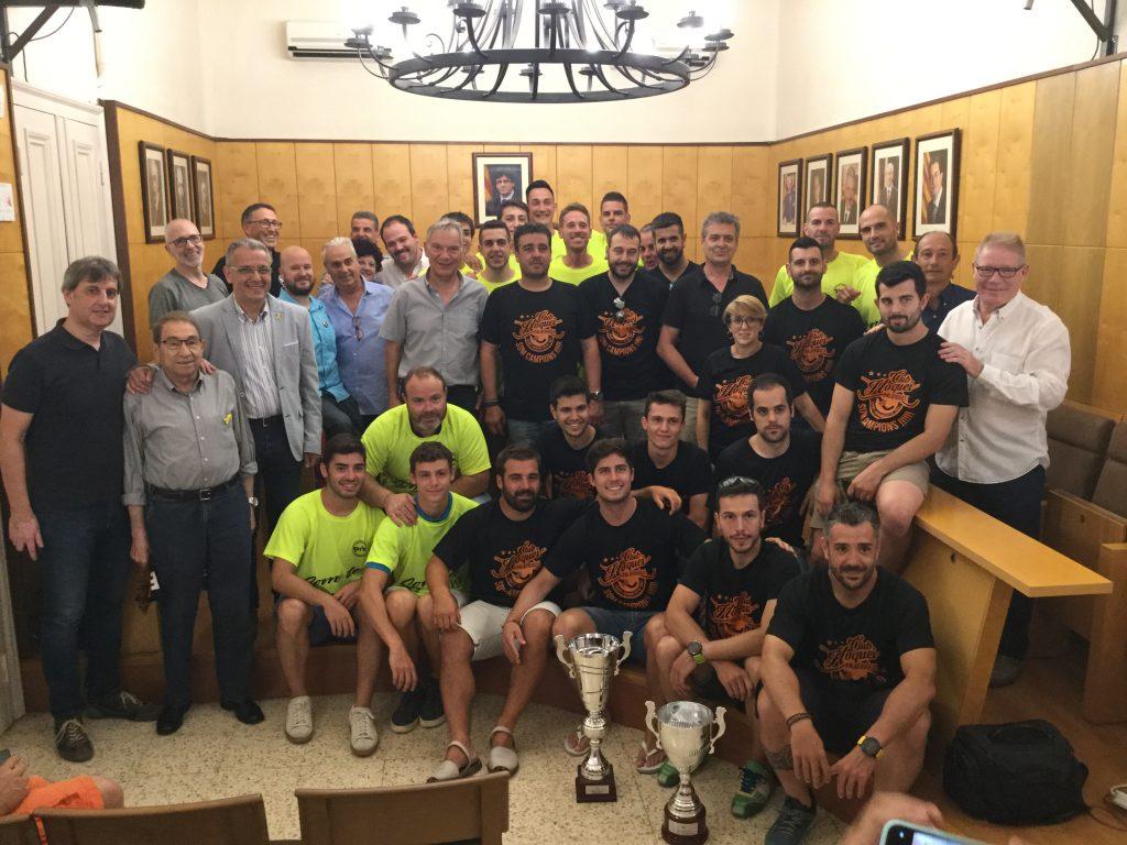 Recepció oficial a l'Handbol Garbí i a l'Hoquei Palafrugell