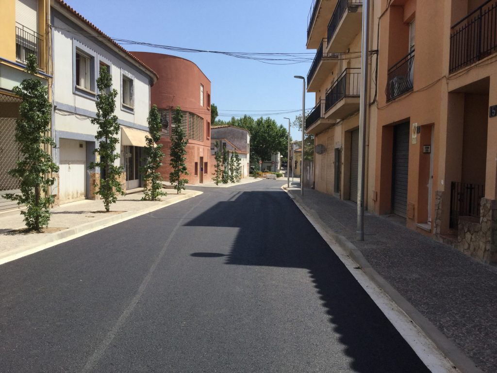 Recta final del carrer Horta d'en Fina