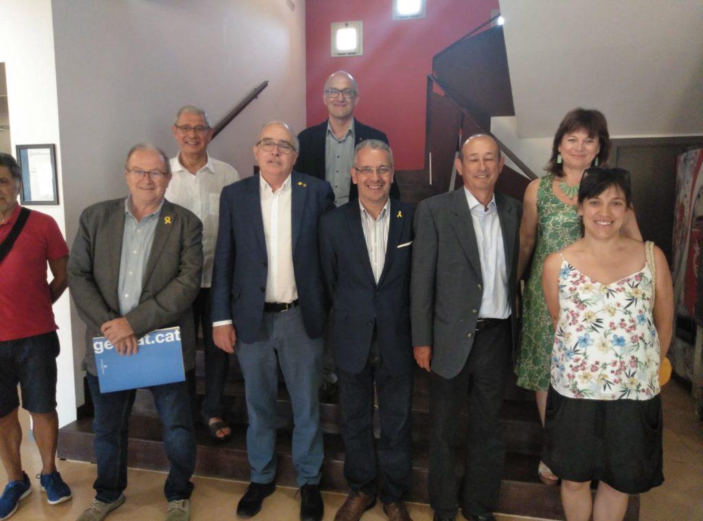 Josep Bargalló Conseller d'Educació visita Palafrugell