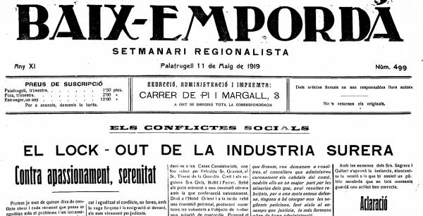 Trossets Compartits Lock outs de 1919