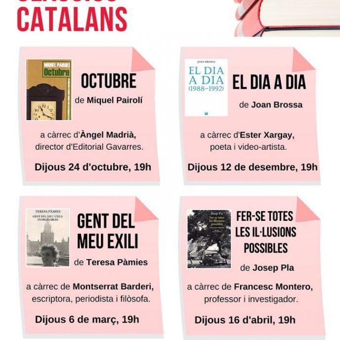 Octubre obrirà el club de lectura clàssics catalans