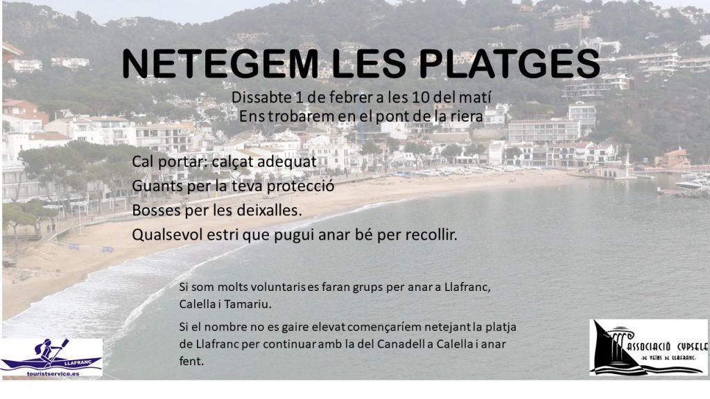 Neteja de les platges de Palafrugell