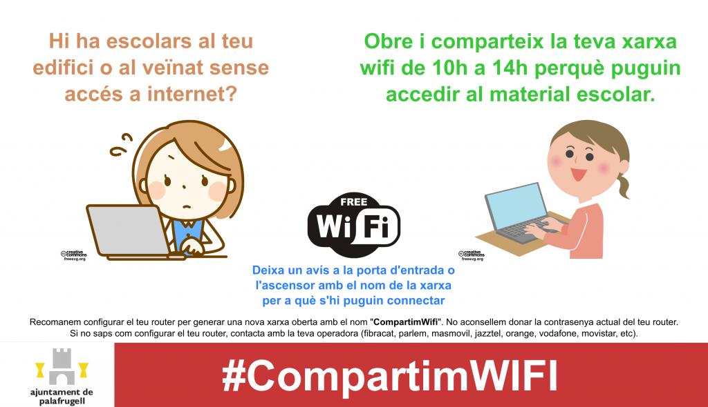 Palafrugell s'ahdereix a la campanya #CompartimWifi