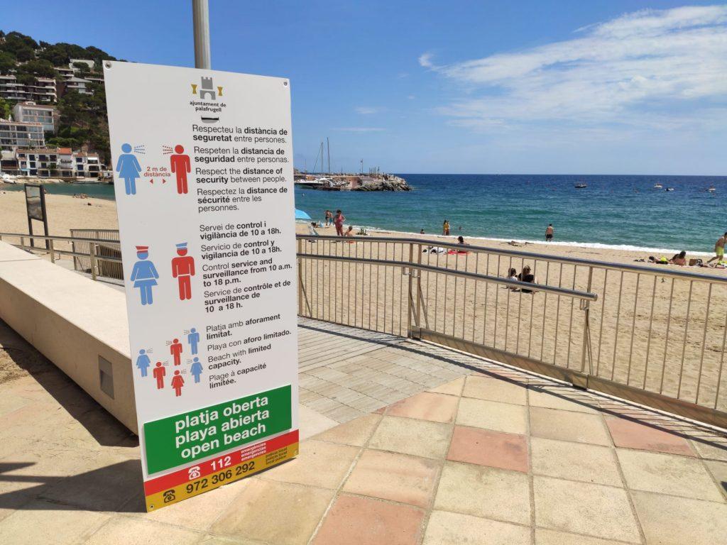 canvis en el control de l'aforament de les platges de Palafrugell