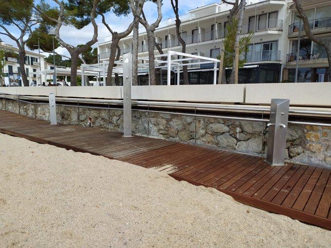 les platges de Palafrugell no tindran servei de dutxes aquest estiu