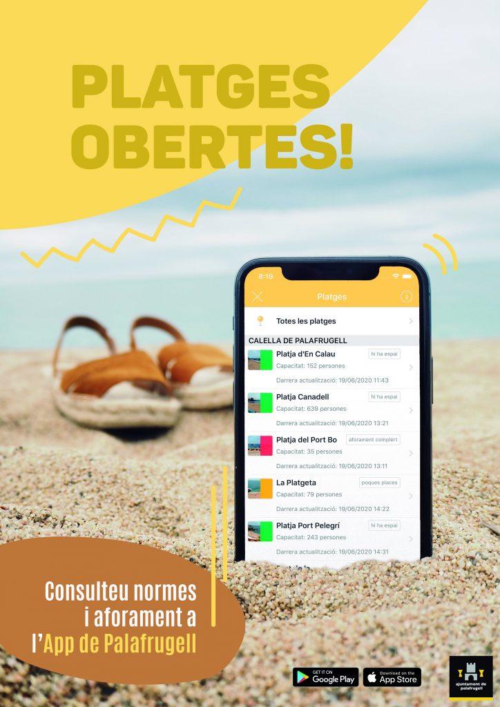 App per controlar accés a les platges
