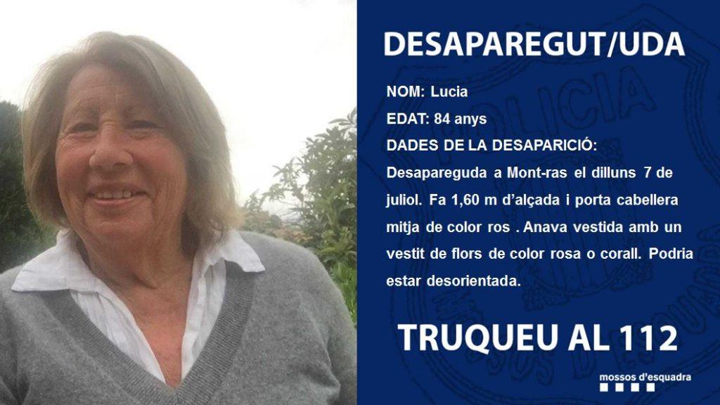 Desapareguda una dona de 82 anys de Mont-ras