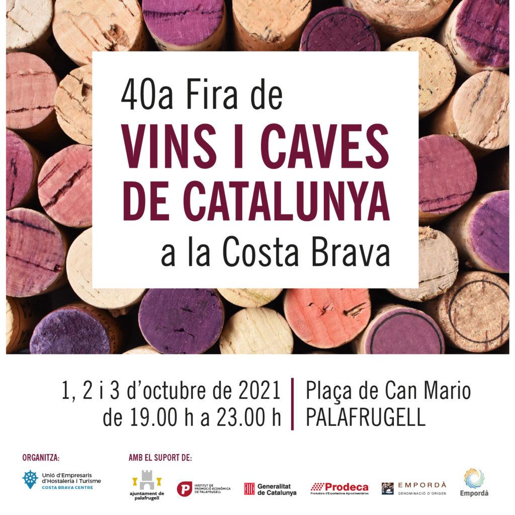 Cartell de la 40a Fira de Vins i Caves a la Costa Brava