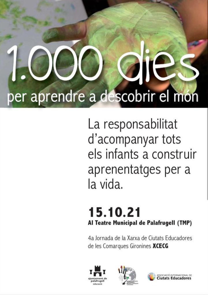 Cartell de 1000 dies per a aprendre a descobrir el món